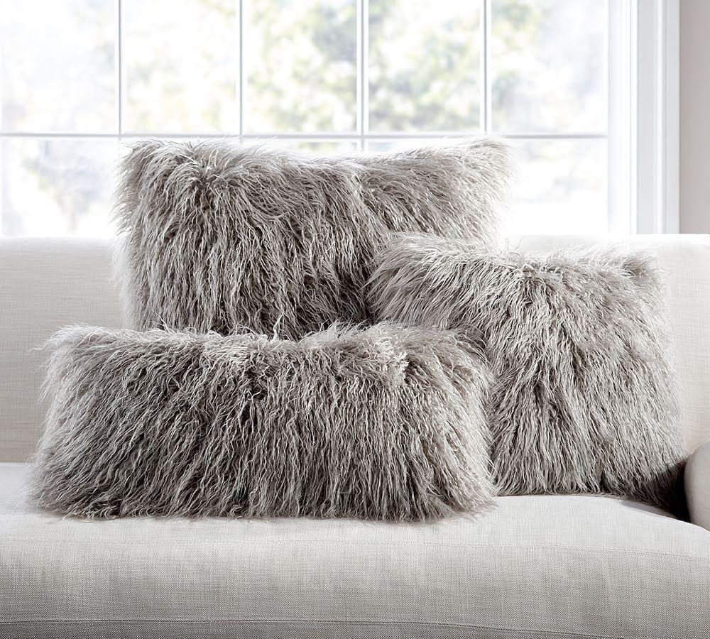 Mongolian Faux Fur Cushion Cover Pottery Barn Au