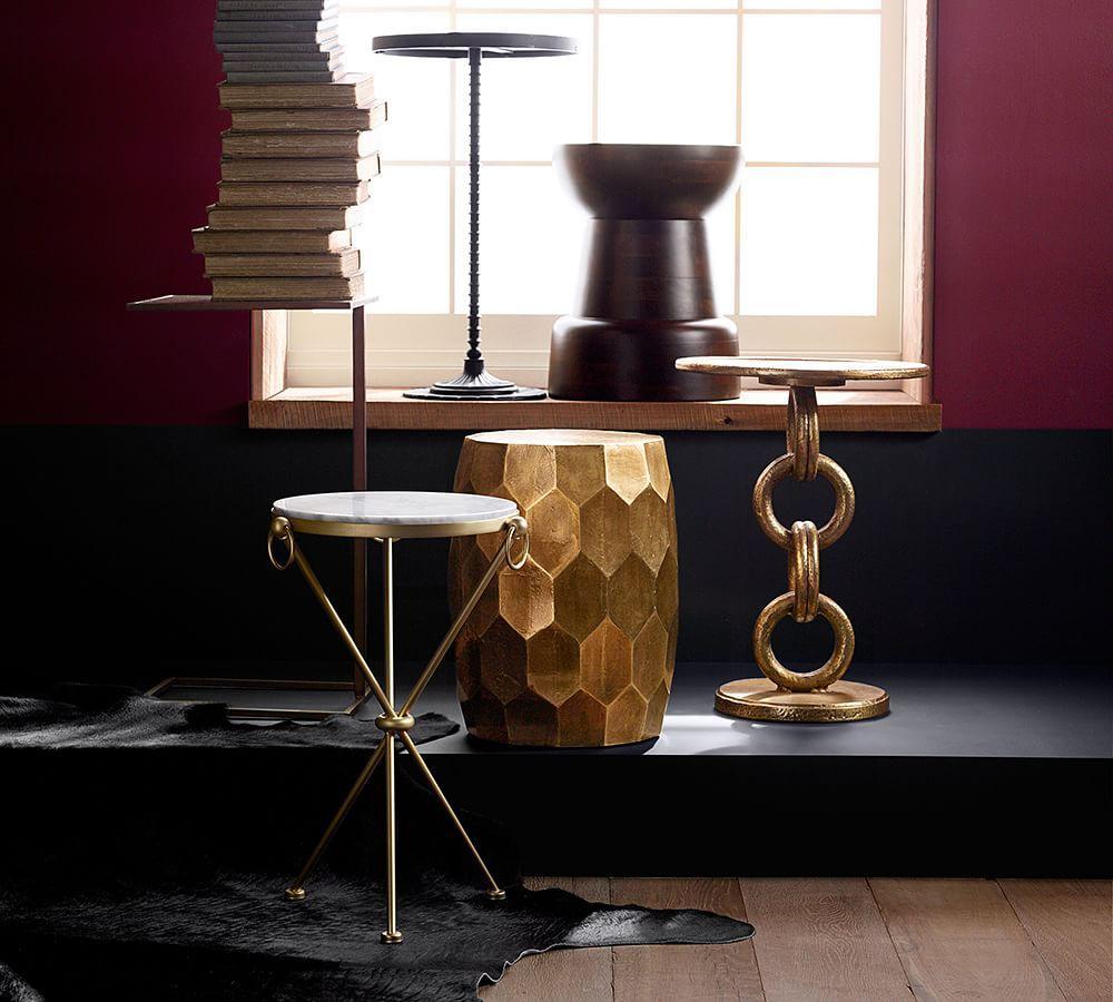 Leila Marble Top Side Table Pottery Barn Au