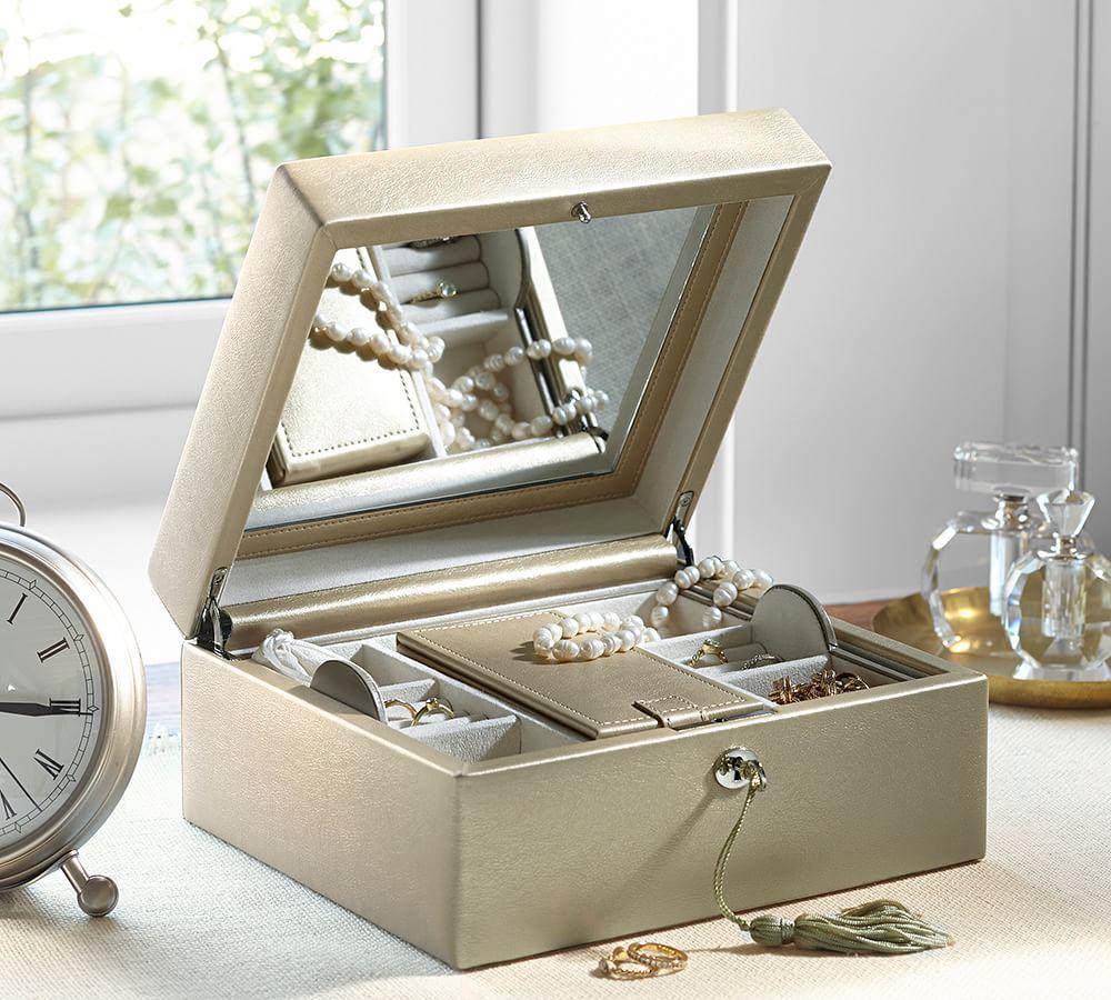 Mckenna Medium Leather Jewellery Box