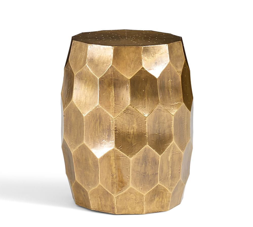 Vince Accent Stool Pottery Barn