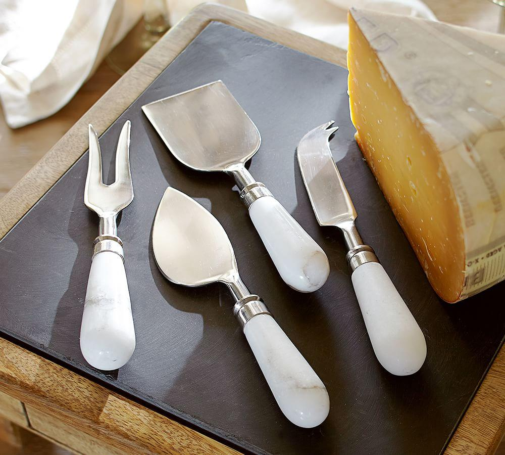 Marble Cheese Knives Set Of 4 Pottery Barn Au