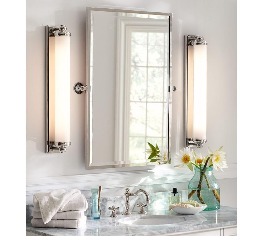 kensington pivot rectangular mirror pottery barn au 16358