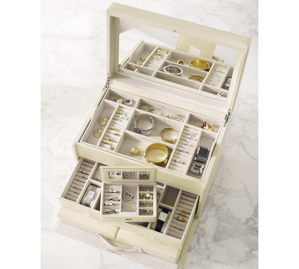 Mckenna Leather Jewellery Armoire Pottery Barn Au