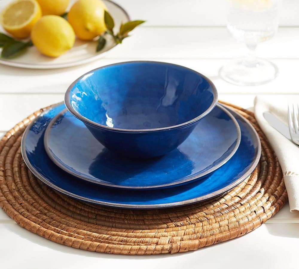 Swirl Melamine Dinnerware - Blue