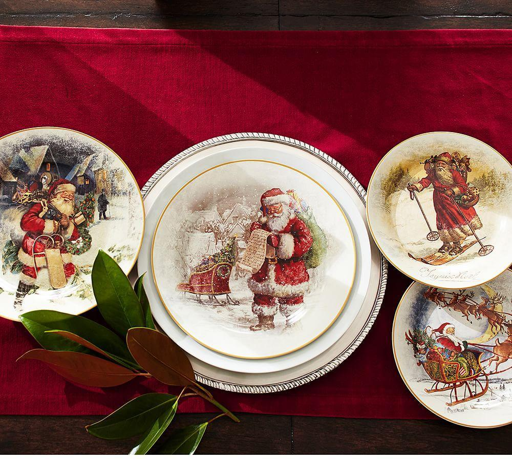 Nostalgic Santa Dinnerware Pottery Barn Au