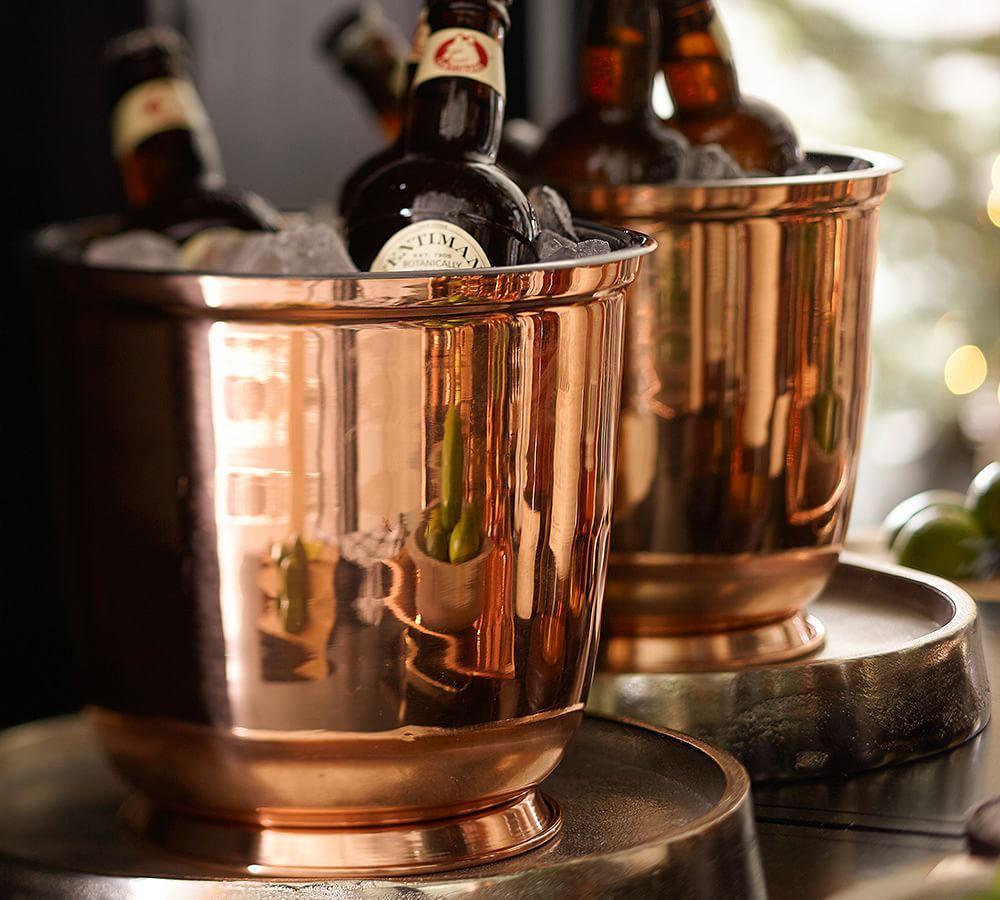 Copper Ice Bucket Pottery Barn Au