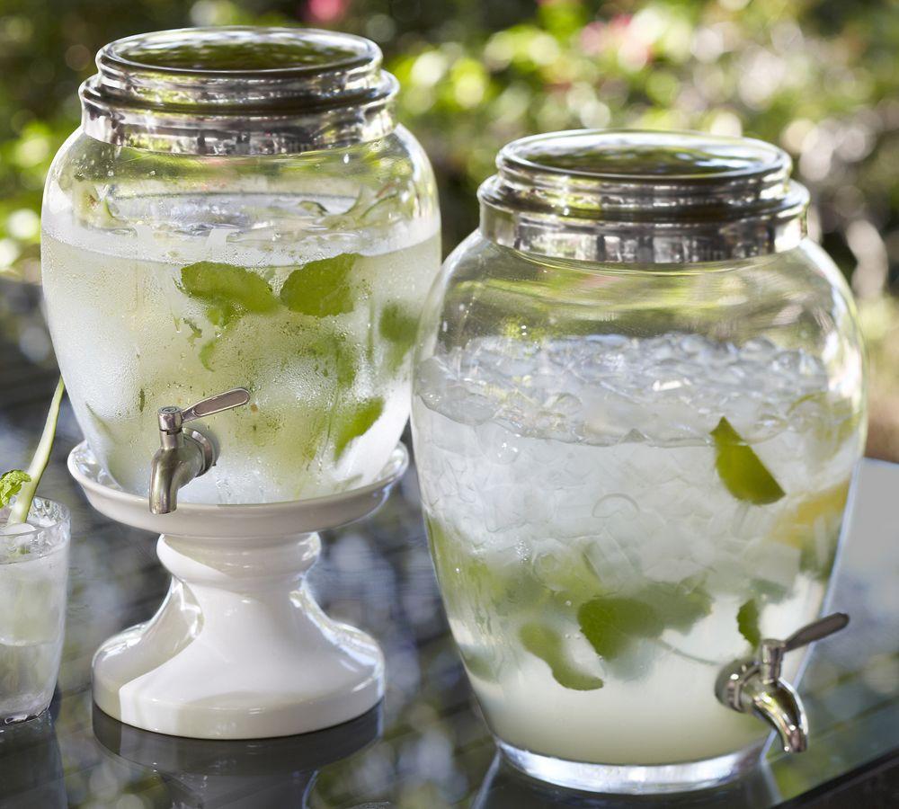 Glass Drink Dispenser Pottery Barn