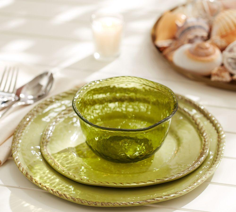 Outdoor Dinnerware, Green