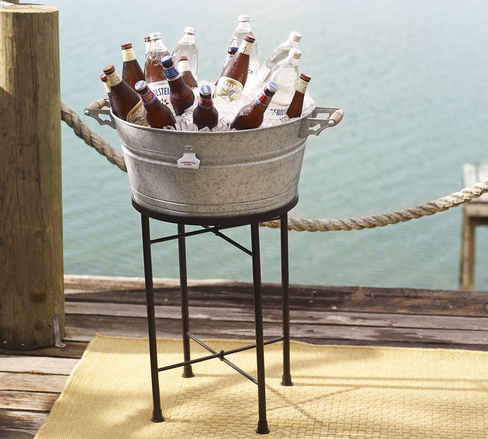 galvanized metal party bucket pottery barn au. Black Bedroom Furniture Sets. Home Design Ideas