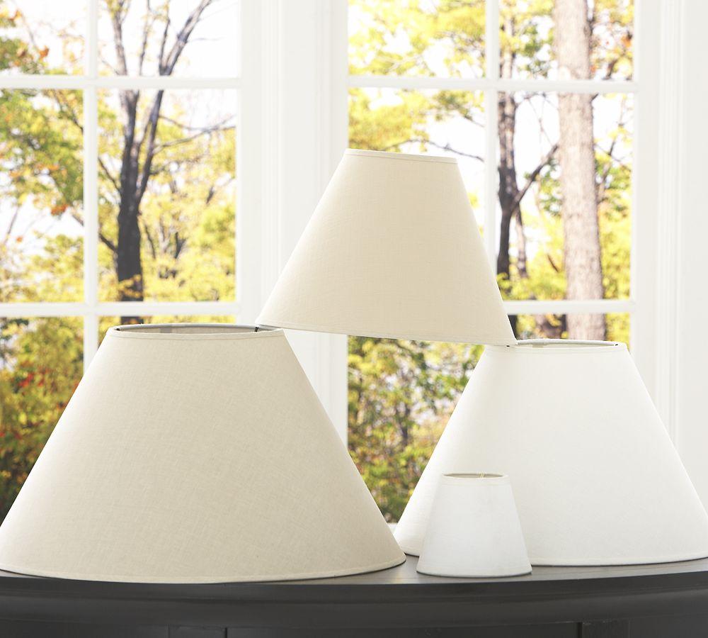 Pottery Barn Clip On Lamp: Pb Basic Linen Lamp Shade
