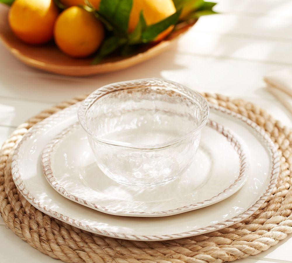 Rope Outdoor Dinnerware White