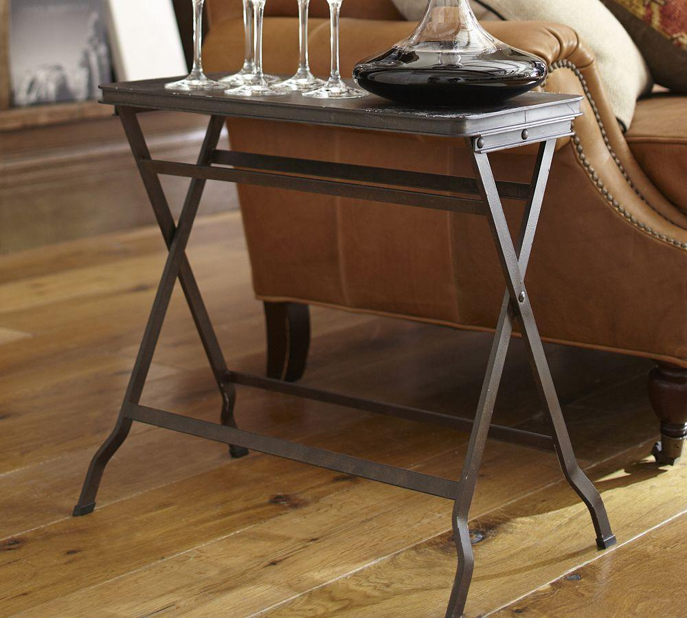 Carter Metal Folding Tray Table Pottery Barn Au