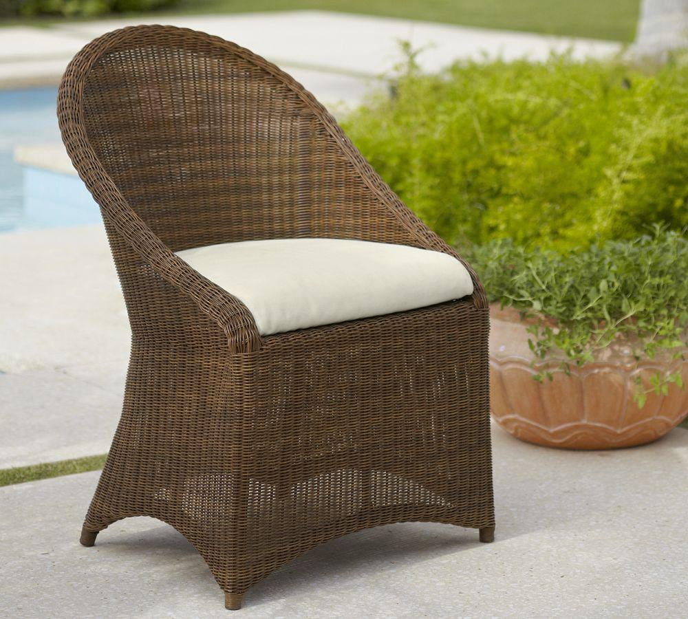 Palmetto All Weather Wicker Dining Chair Honey Pottery