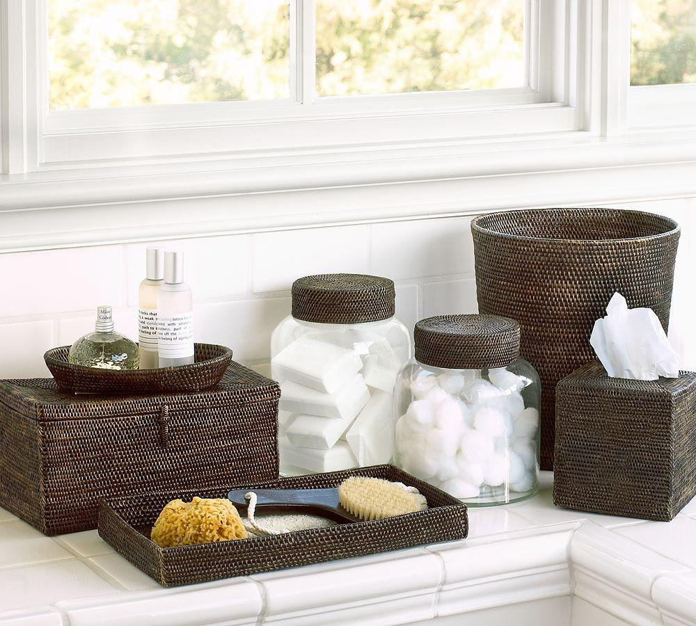 Tava bath accessories pottery barn au for Bathroom accessories set ideas