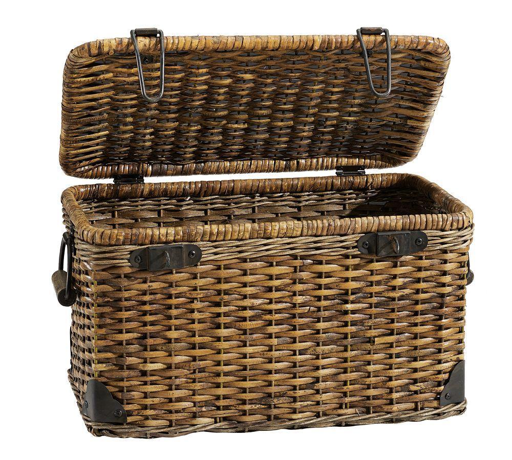 Daytrip Lidded Large Basket Pottery Barn Au