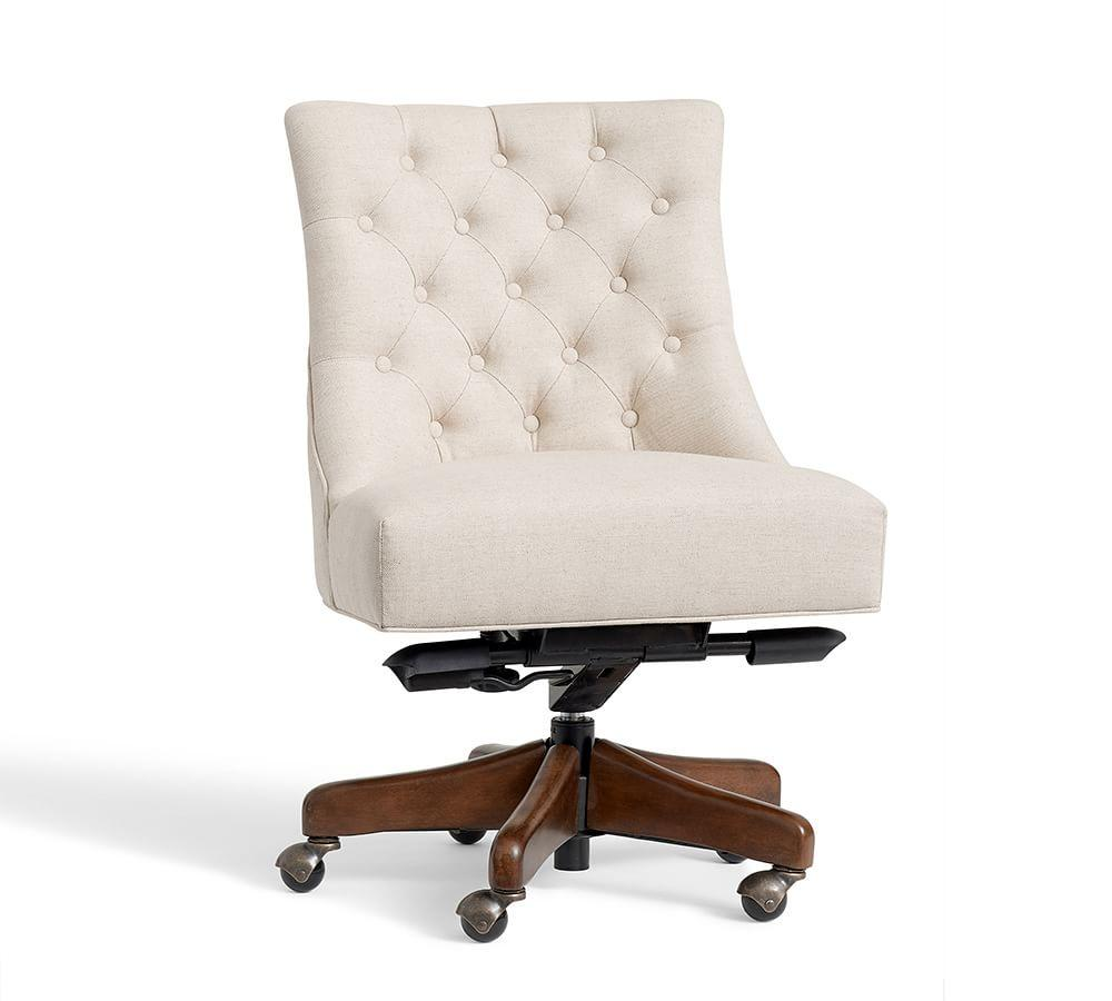 Hayes Tufted Swivel Desk Chair Pottery Barn Au