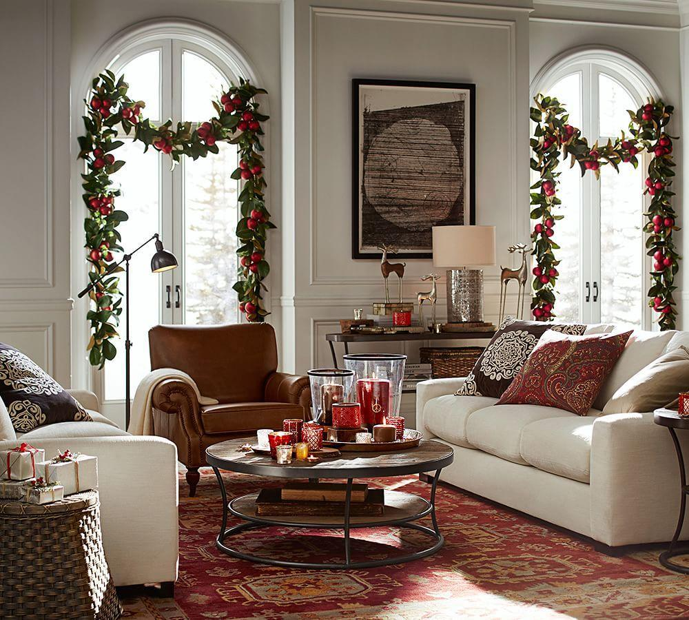 Pottery Barn Living Room With Carpet And Decorative Plant: Cole Task Floor Lamp