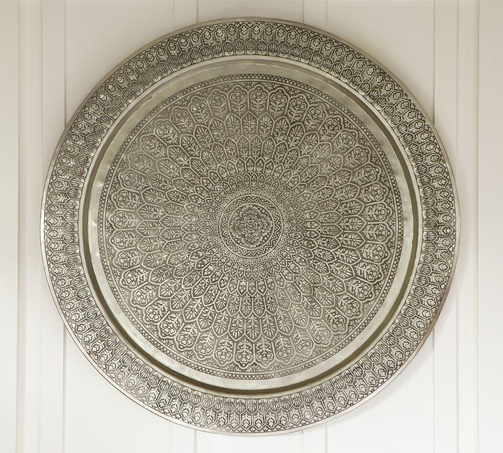 Decorative Metal Disc Silver Pottery Barn Au
