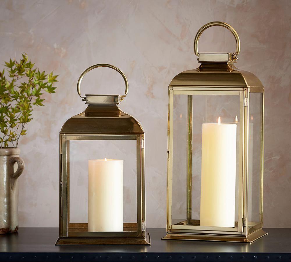 Arlington brass lantern pottery barn au for Decor lanterns