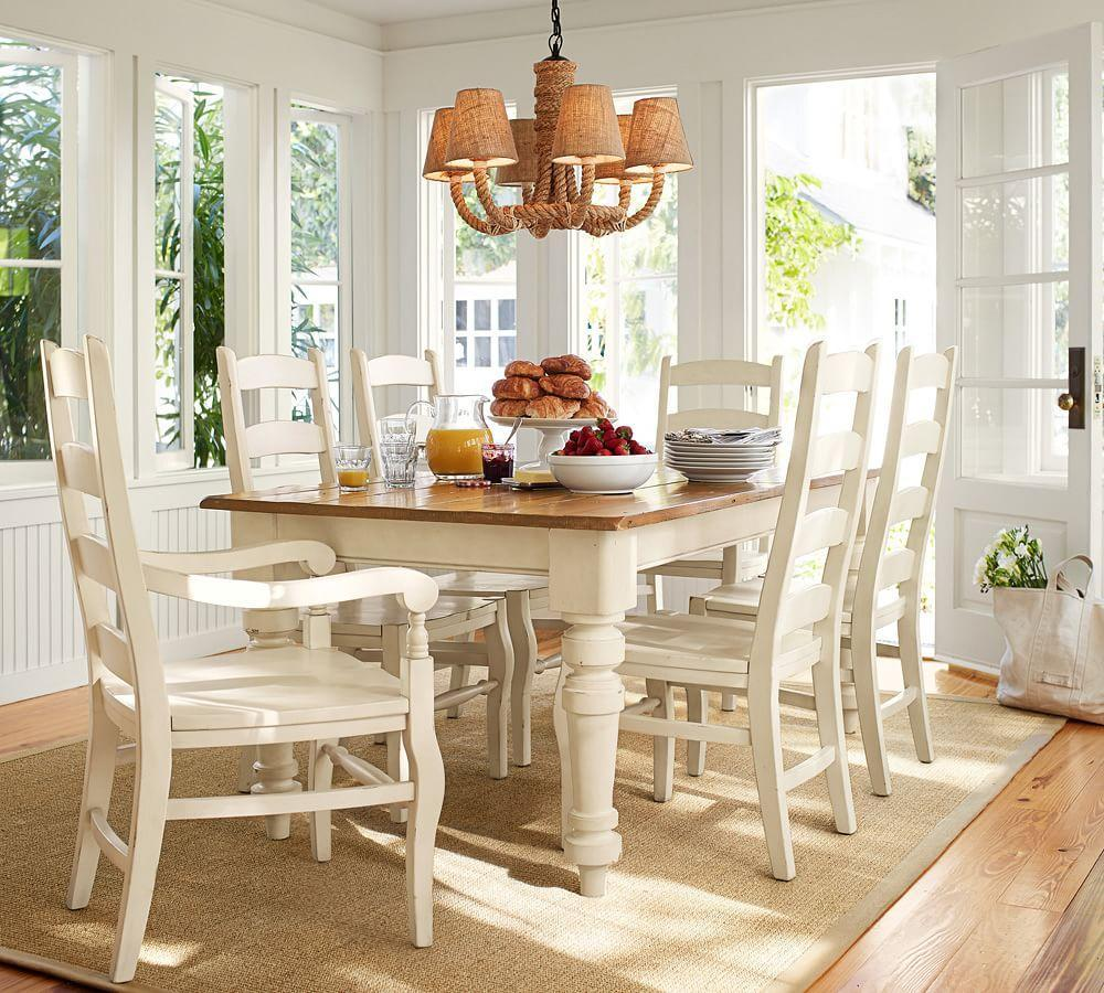 Country Dining Room Tables: Wynn Ladderback Chair