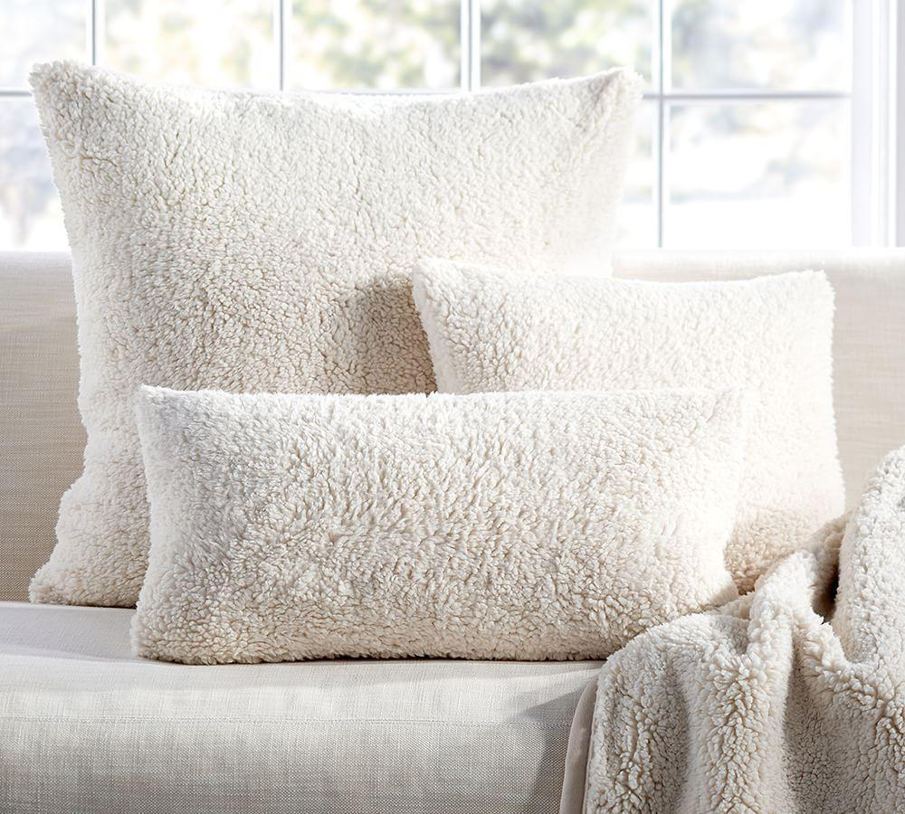 Faux Sheepskin Cushion Covers Pottery Barn Au