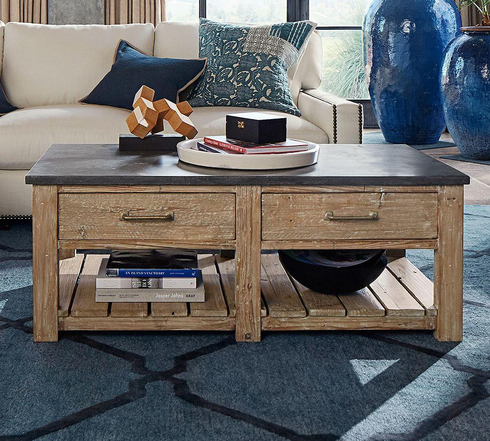 Parker Reclaimed Wood Coffee Table Pottery Barn Au