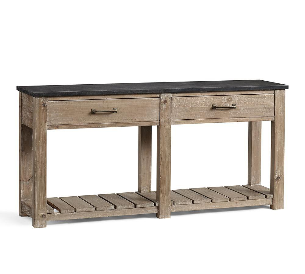 Parker Reclaimed Wood Console Table Pottery Barn AU