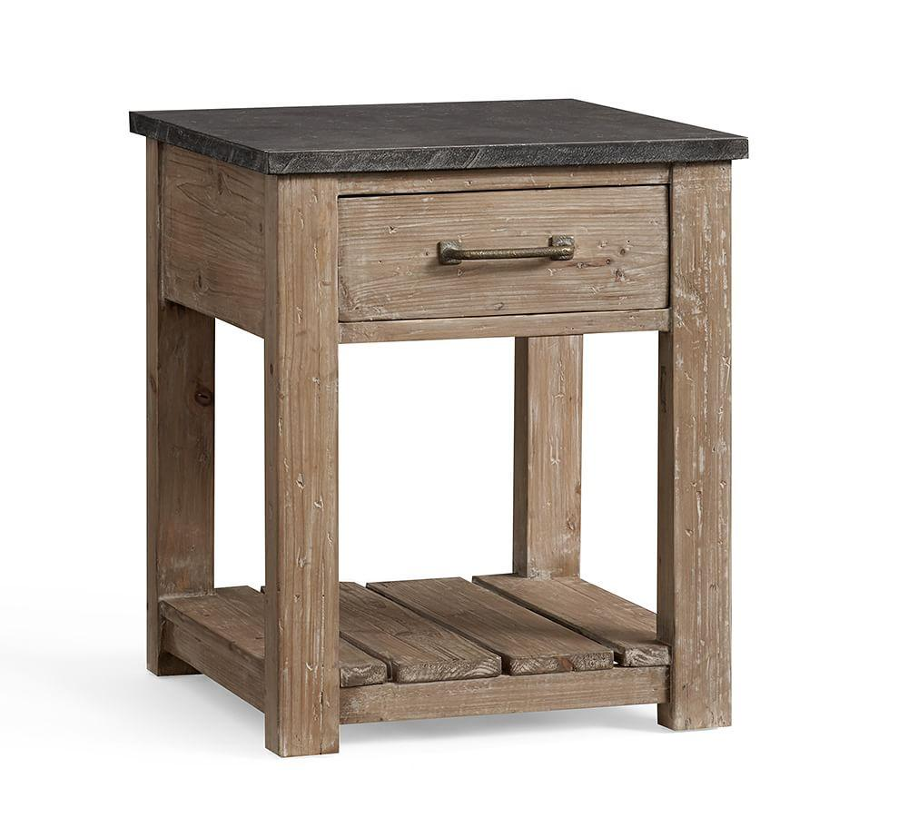 parker reclaimed wood side table . parker reclaimed wood side table  pottery barn au