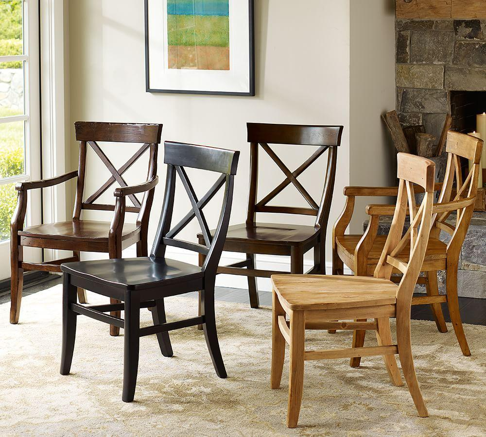 Pottery Barn Dining Sets: Aaron Wood Seat Chair