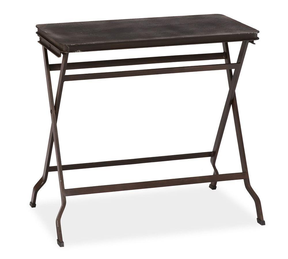 carter metal folding tray table pottery barn au. Black Bedroom Furniture Sets. Home Design Ideas