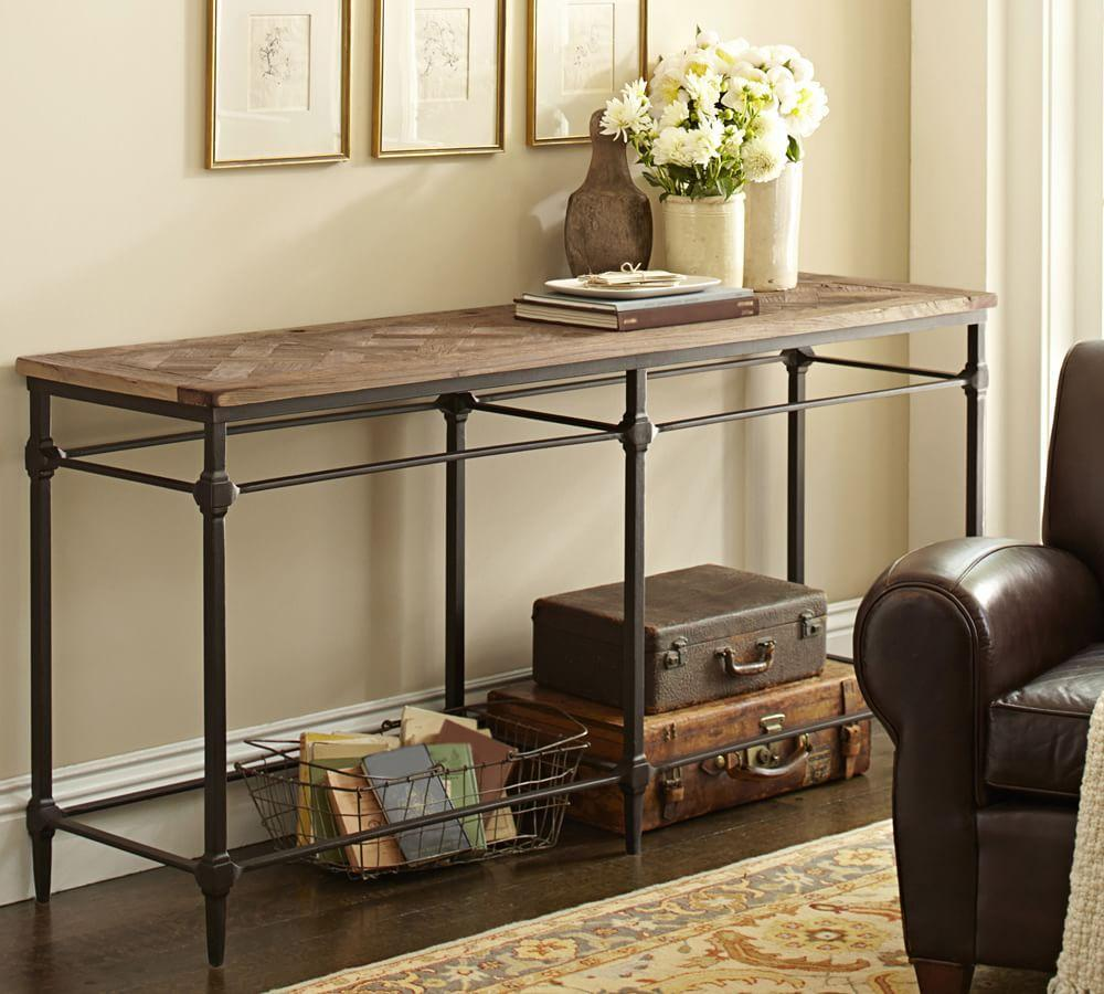 Parquet Console Table Pottery Barn Au
