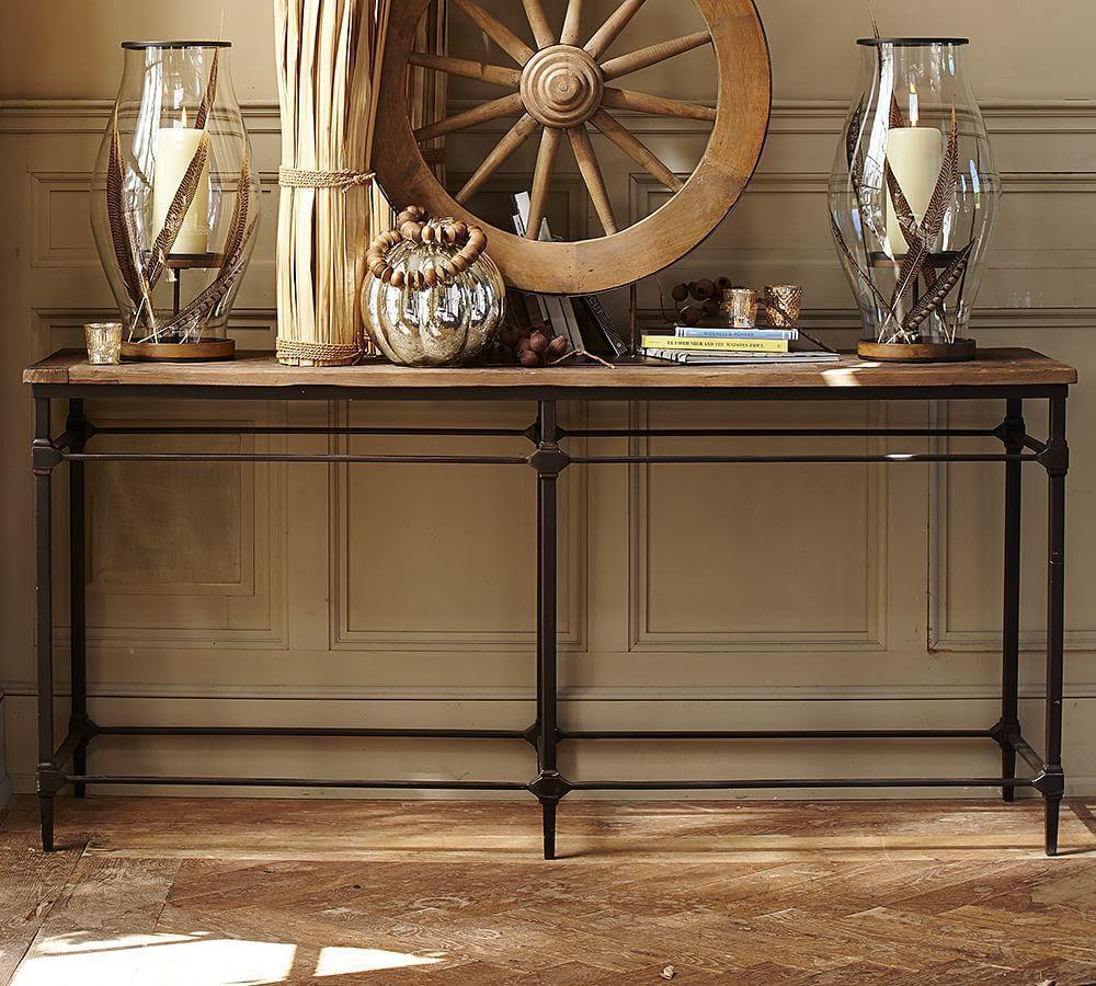 Sofa table decor pottery barn -  Parquet Console Table