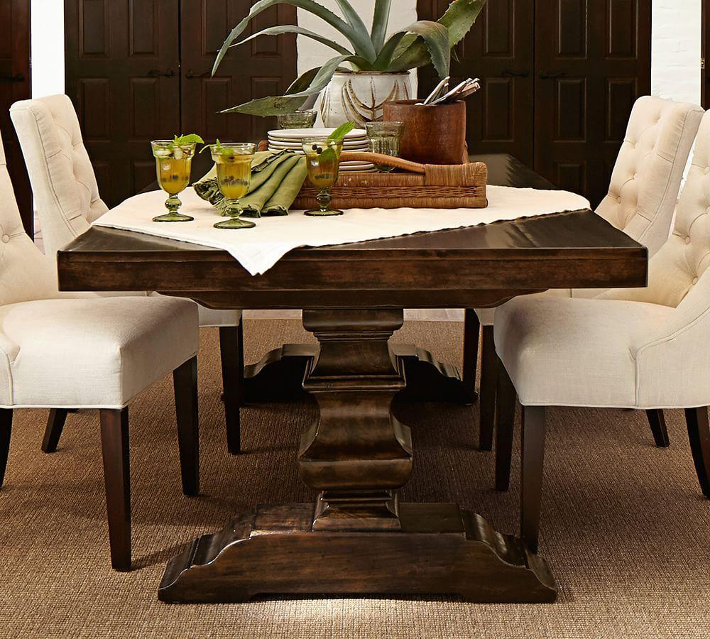 Banks extending dining table pottery barn au for Top 10 dining tables