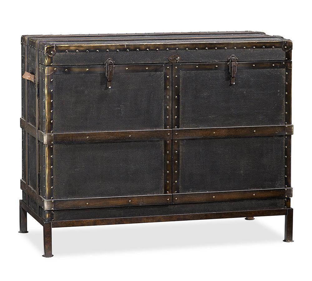 Ludlow Trunk Bar Cabinet Pottery Barn Au