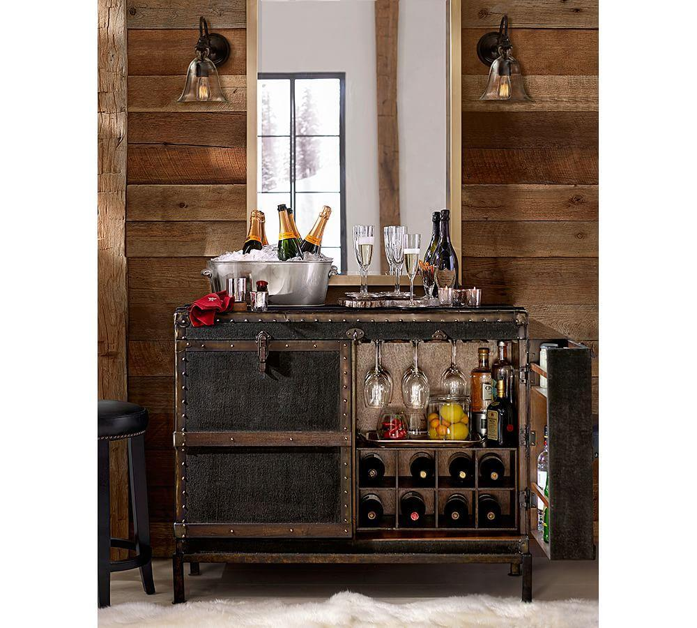 Ludlow Trunk Bar Cabinet Pottery Barn Au