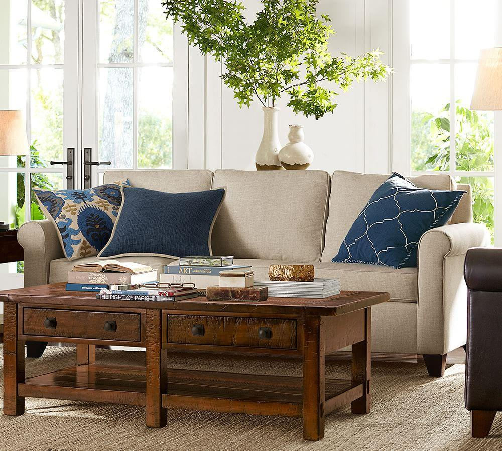 Cameron Upholstered Sofa Pottery Barn Au