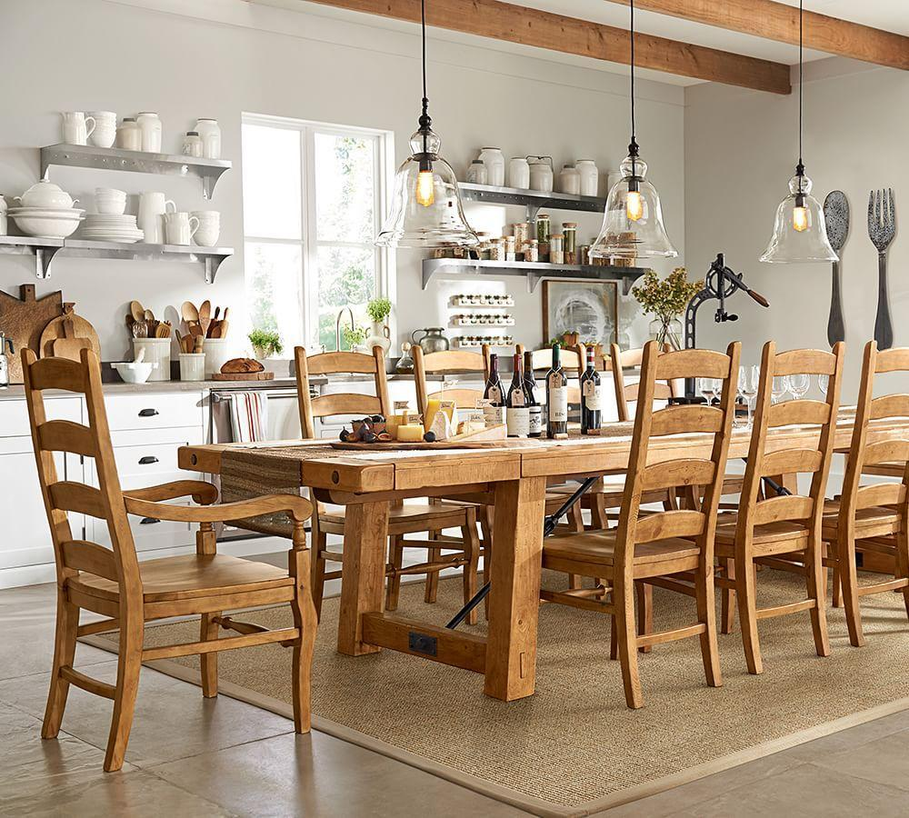 benchwright extending dining table pottery barn au