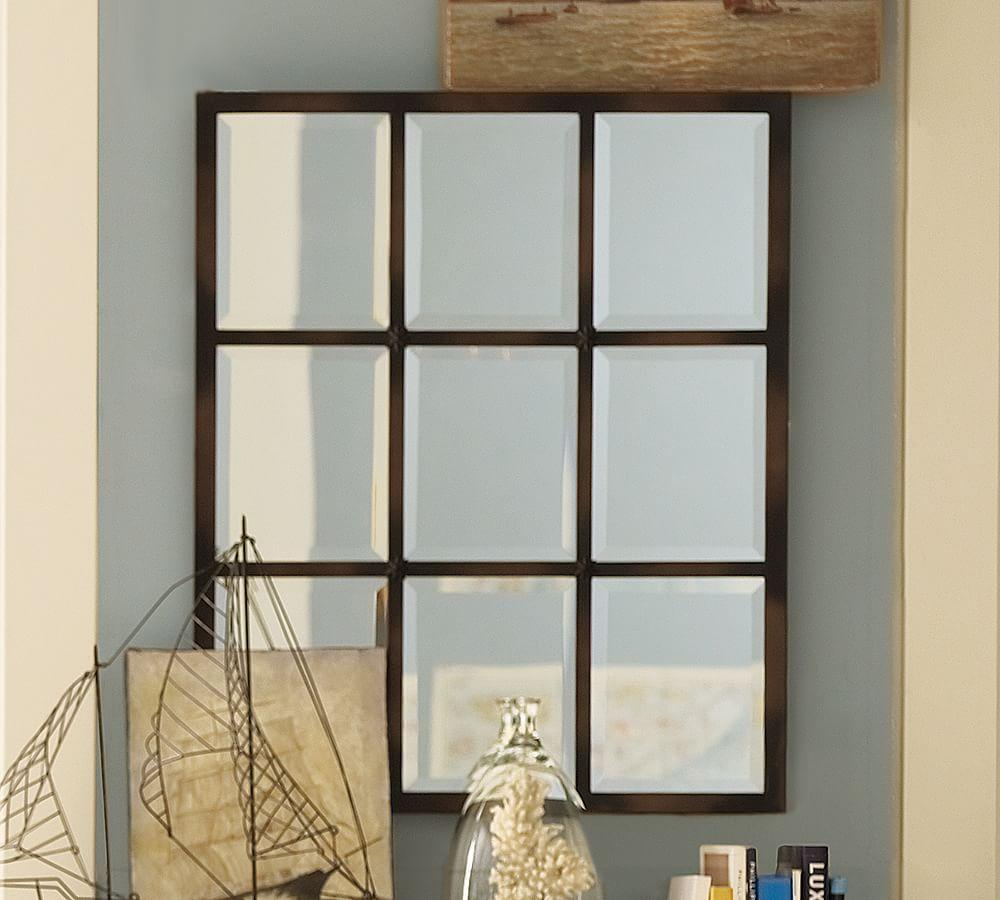 Decorative Wall Mirror Panels : Eagan multi panel small mirror pottery barn au