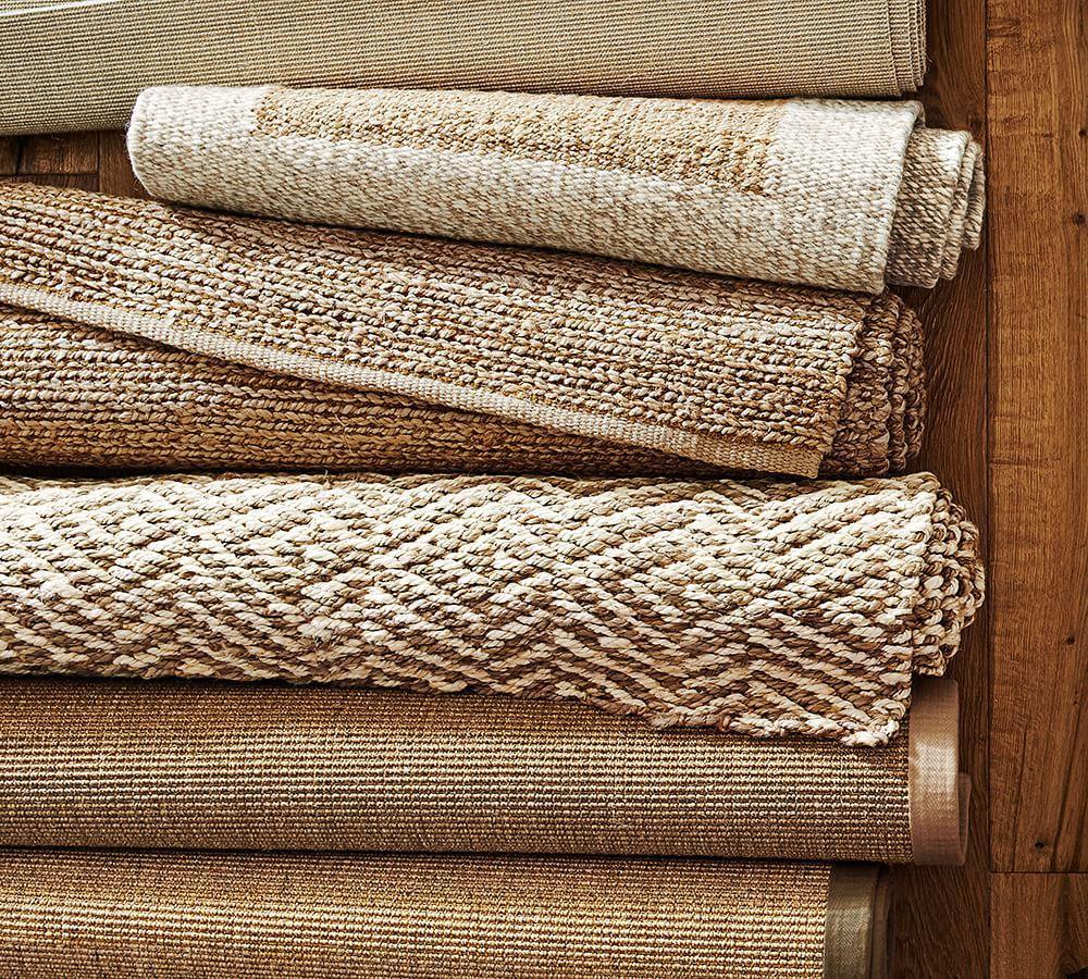 chunky wool natural jute rug pottery barn au. Black Bedroom Furniture Sets. Home Design Ideas