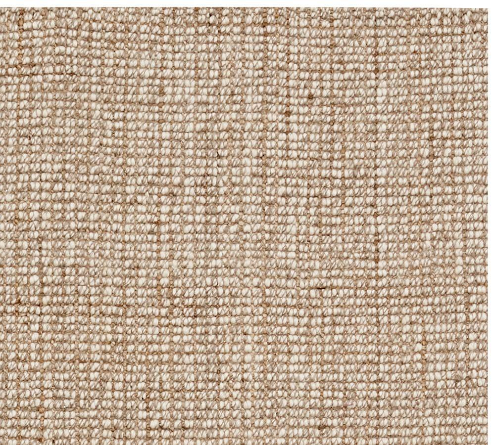 Chunky wool natural jute rug pottery barn au for Pottery barn carpet runners