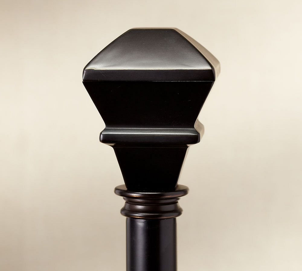 PB Standard Square Finial & Curtain Rod - Antique Bronze finish
