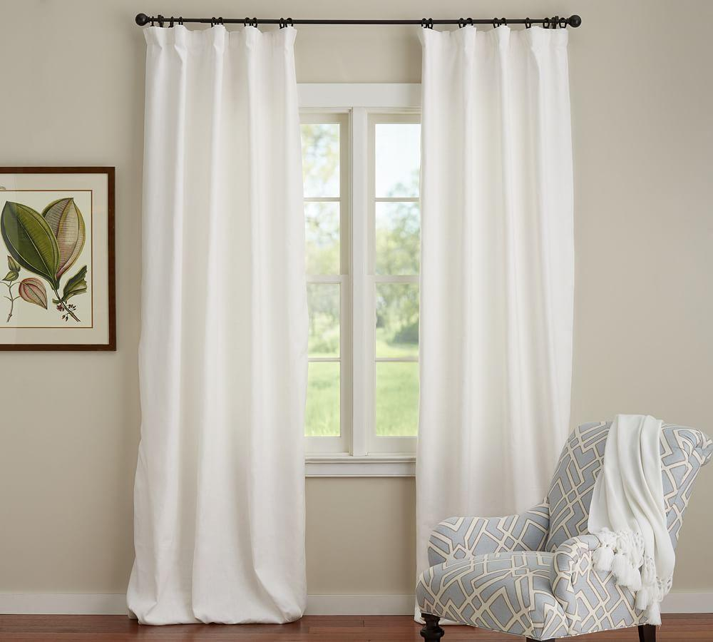 Emery Linen Cotton Curtain Pottery Barn Au