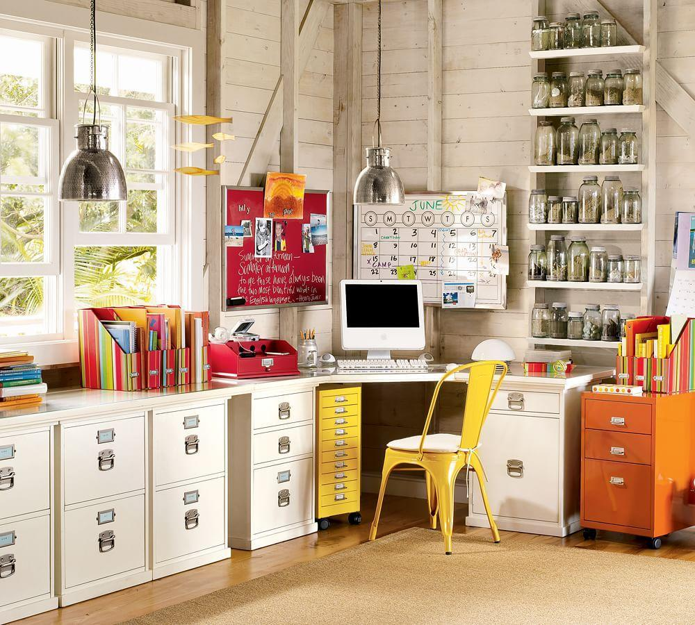 Houzz Pottery Barn Home Office Design Ideas Remodel Pictures