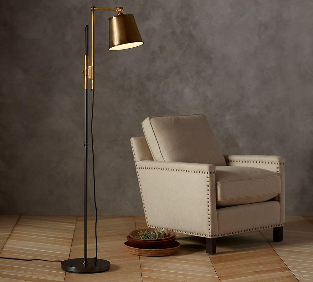 Knox Bronze Amp Brass Task Floor Lamp Pottery Barn Au