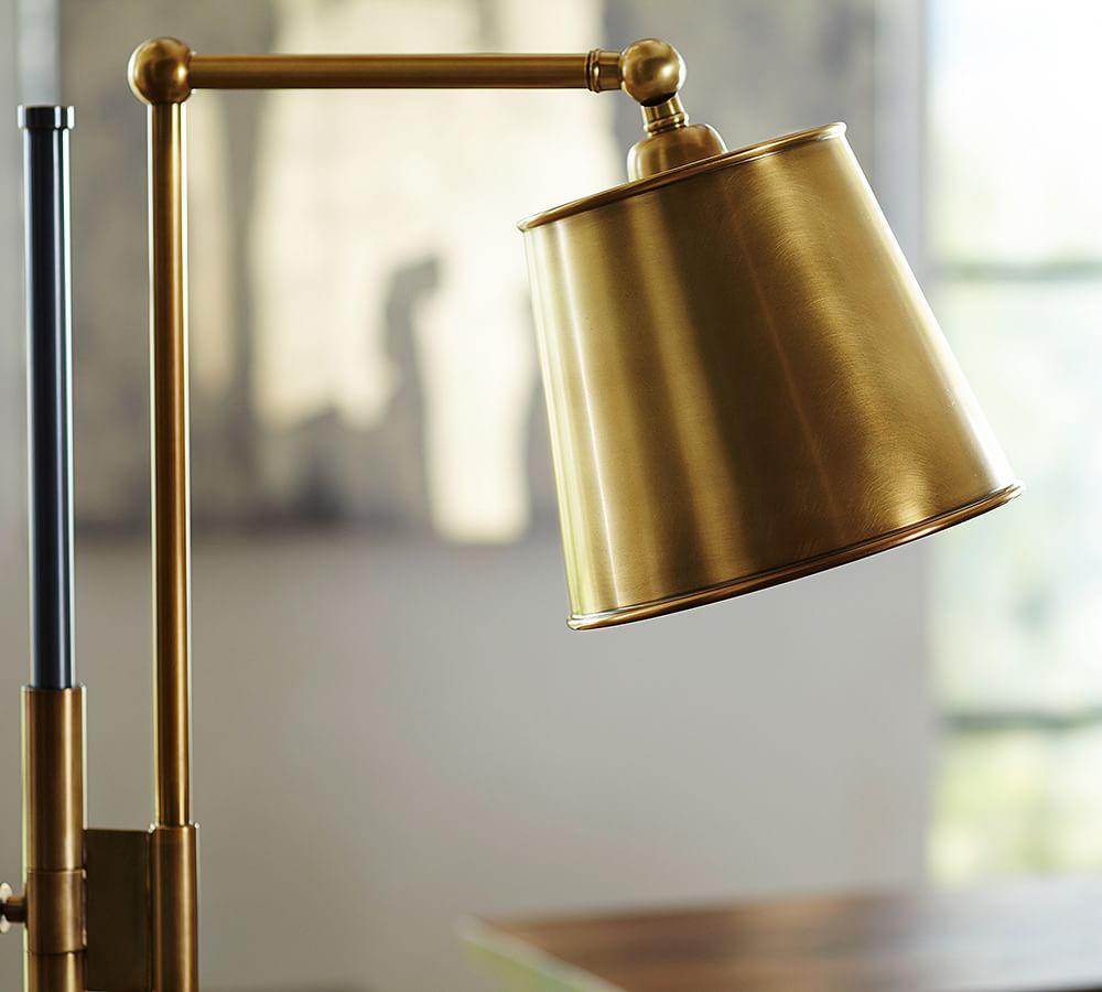 Knox Bronze Amp Brass Task Floor Lamp Pottery Barn Au