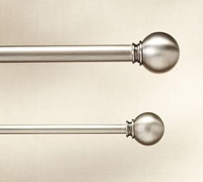PB Standard Ball Finial & Curtain Rod - Pewter finish