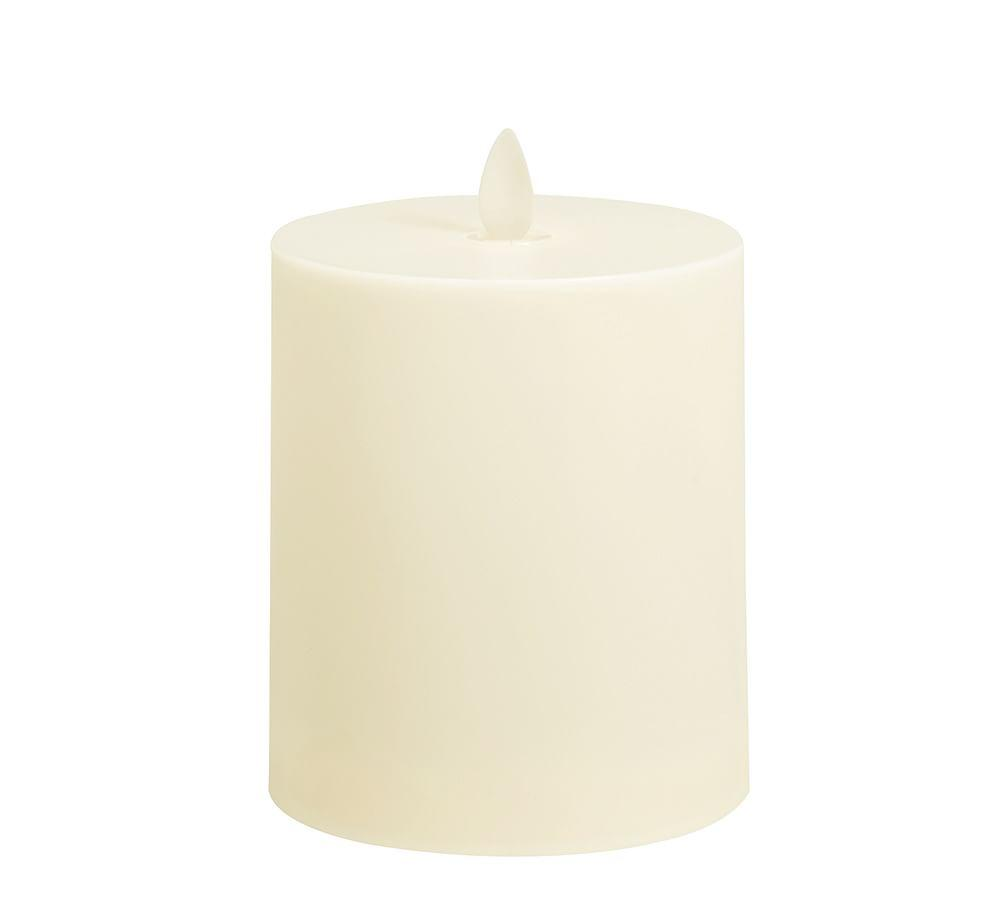 Flickering Flameless Wax Pillar Candle Pottery Barn