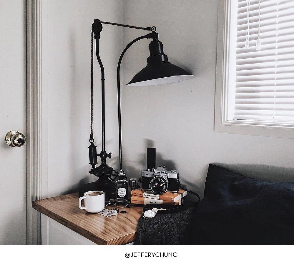 glendale pulley task table lamp pottery barn au. Black Bedroom Furniture Sets. Home Design Ideas