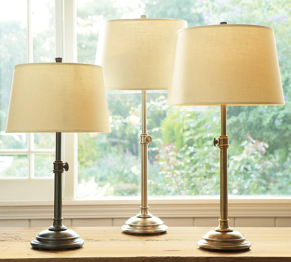 Pottery Barn Phoenix Lamp: Linen Tapered Drum Lamp Shade