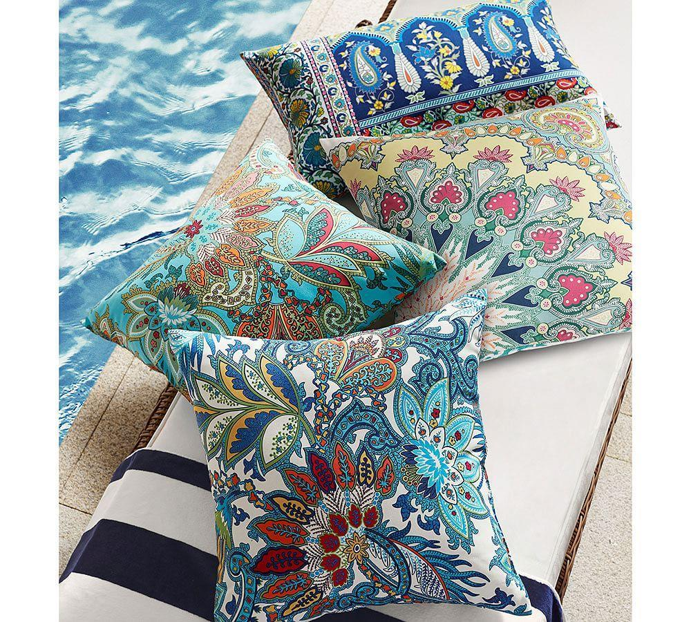 Marnie Paisley Indoor Outdoor Lumbar Cushion Pottery Barn Au